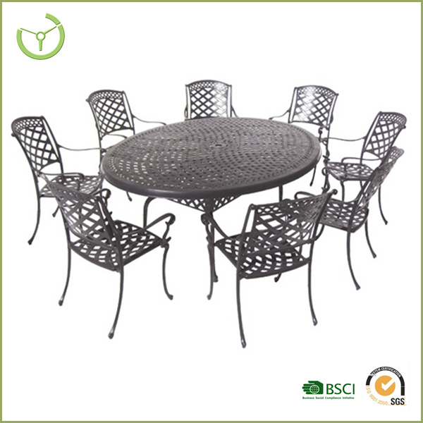 2016 hot sale casting aluminum table and chairs -garden furniture HL-9S-14002