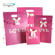 promotion rose red small custom gift paper bag without handle with lid