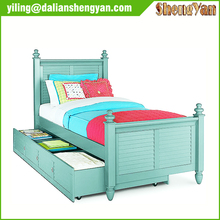 Factory Direct Wholesale Solid Wood Twin Trundle Bed Frame