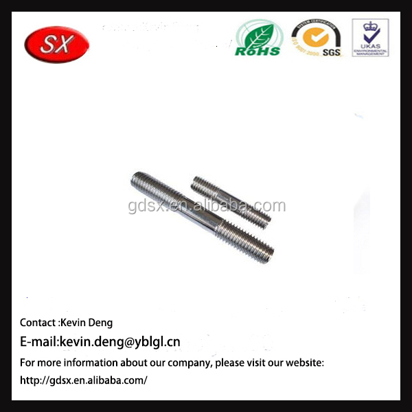 New Qualified factory price customized metal double end bolt