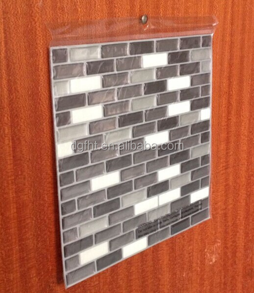 Waterproof 3D PET Brick Wall Sticker, Self Adhesive Decorative Wall Tile for Kids