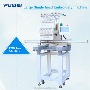 Large single head Flat +Cap Computerized Embroidery Machine price pictures