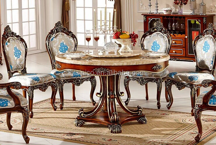 European Style Luxury Dining SetRound Table And