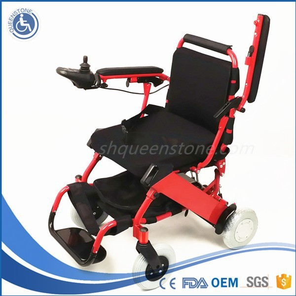 2015 US Style Portable Durable Tighten foldable Power Wheelhair with Detachable thick cushion