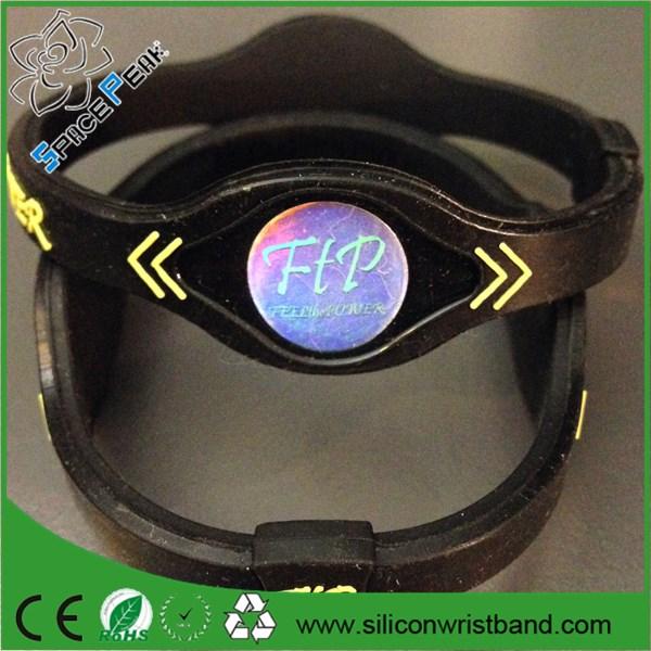 2c0bc3be3bc Força e Estabilidade de Equilíbrio de energia Faixa de Poder Holograma  Pulseira de Silicone de Íons