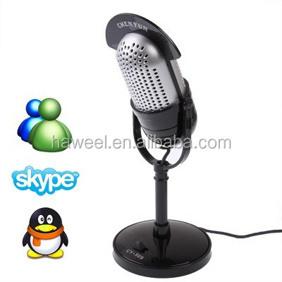 wholesale 3.5mm Professional Dynamic Multimedia Microphone, Support Chatting over QQ, MSN, SKYPE and Singing Over Internet