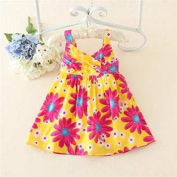 32cfb3b76 Summer Little Girls 100 Cotton Dresses Causal Clothing Vest Dress ...
