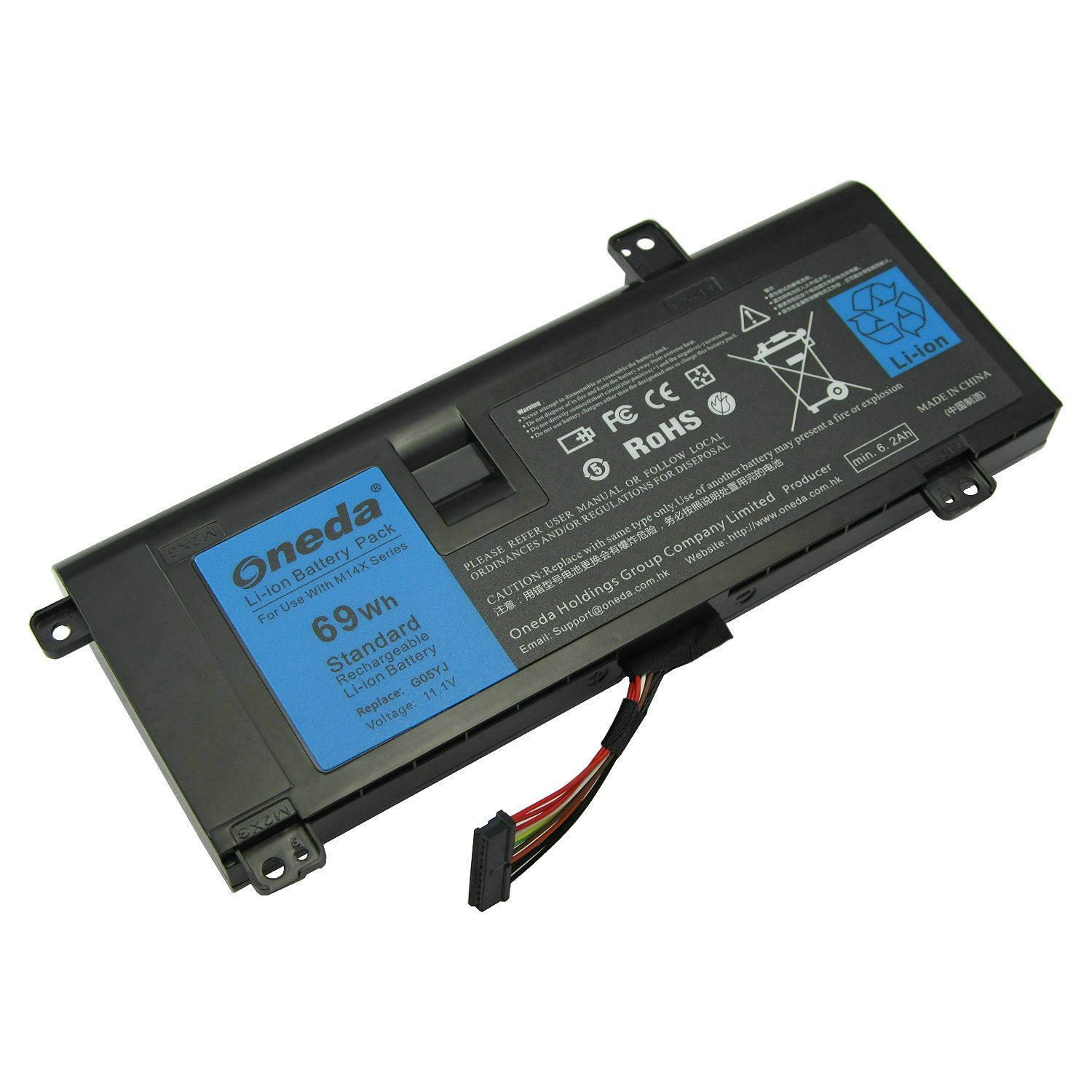 Oneda New High Performance Laptop Notebook Battery for Dell Alienware 14 A14 M14X R1 R3 R4 14D-1528 ALW14D P39G Series ; Fits P/N: G05YJ 0G05YJ Y3PN0 8X70T Replacement batteries Pack [11.1V / 69Wh]