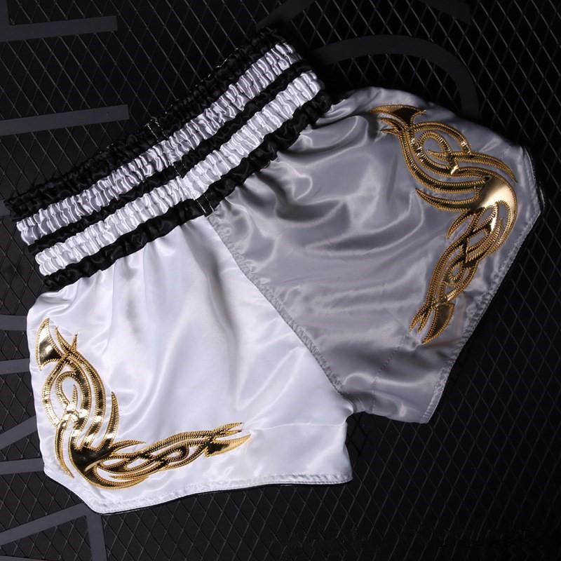 Sanda Shorts Versorgung Muay Thai Polyester Schnell Trocknend Sport Dehnbar