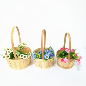 Easter decorative packing flower bamboo basket