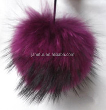 new style 13cm colorful raccoon fur ball pendant / wholesale cheap fur ball key chain