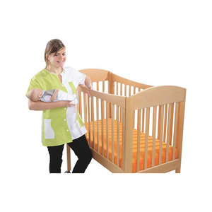 Daycare Bedroom Furniture Wooden Baby Crib With Wheels