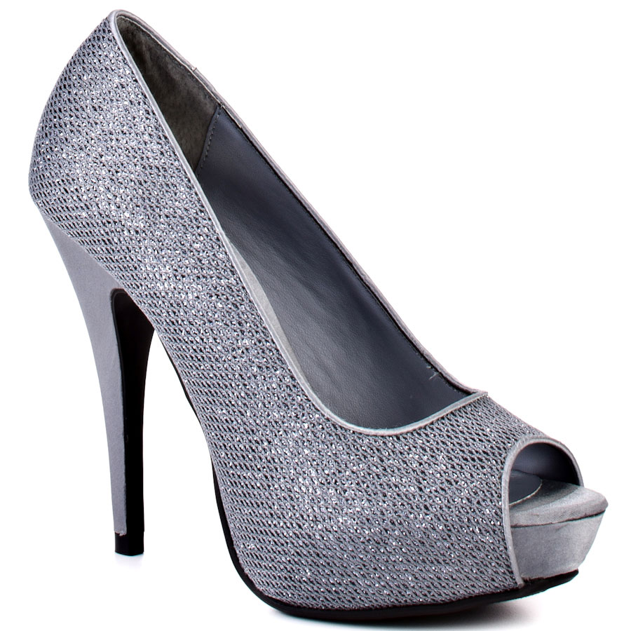 Cheap Silver Peep Toe Heels Is Heel