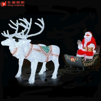 Outdoor Christmas Decoration Led Lighted Reindeer Carriage Abs Or Acrylic Reindeer With Sleigh Led Christmas Lights Buy Outdoor White Lighted