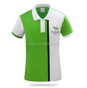 color combination custom print 60% cotton 40% polyester work uniform breathable polo shirts