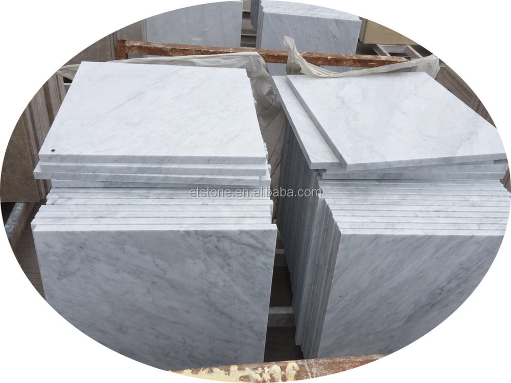 Lowest Price Bianco Carrara White Marble Floor Tiles