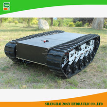 Tracked chassis for robot machine