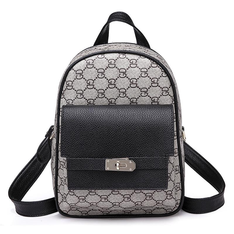 2018 fashion design women backpack high quality youth leather backpacks for teenage girls female school shoulder bag bagpack