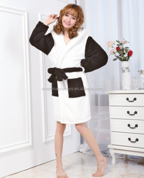 custom winter pajamas fleece panda pyjamas women