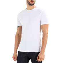 Cheap Wholesale Fitted Blank White O-Neck T-Shirt Men 100% Cotton