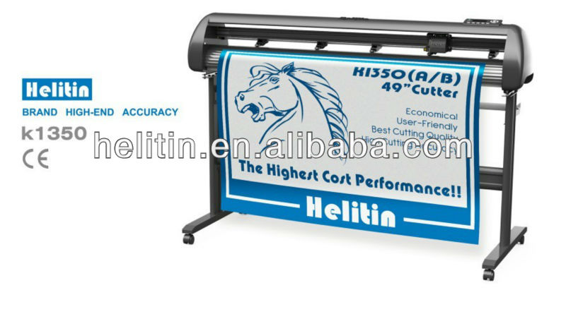Helitin Cutter Plotter with Red Dot and Flexisign Software Output