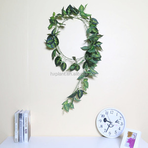 Green artificial plastic ivy vine garland for shopping mall decoration