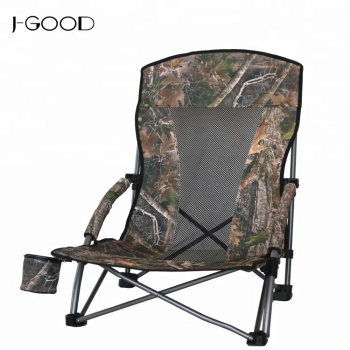 Camouflage Style Foldable Traveling Beach Chair Short Leg Portable Best Folding Camping