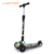 Alibaba china manufacturer wholesale cheap price adjustable height 3 PU light wheel scooter