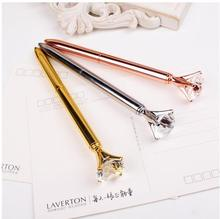golden crystal top attractive diamond gift pen luxury chinese classic ballpoint customize logo gift diamond pen