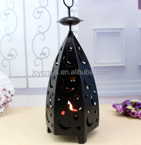 Wedding Decoration Star and Moon Design Metal Candle Holder
