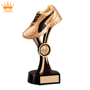 High quality sports shoes resin trophy for souvenir