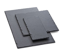 Rectangle Black Slate Stone Cheese Board Plate