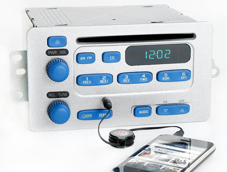 2000-05 Chevy Malibu Impala Silver & Blue Radio AM FM CD w Aux Input - 09379051