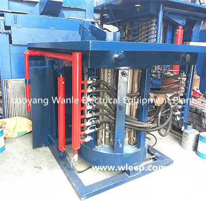 0.5T Steel Shell IF Induction Copper Melting Furnace