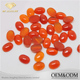 Fashion Gemstone Jewelry Making Natural Gems Flat Back Cabochon Oval Cut Red Agate