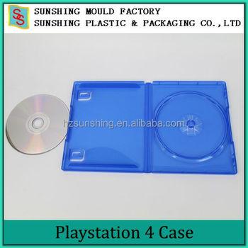 plastic ps4 blue color cd size dvd game case with media. Black Bedroom Furniture Sets. Home Design Ideas