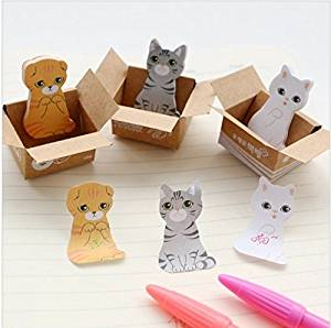 3D Cartoon Paper Scrapbooking Cat Dog Stickers Cute Korean Stationery Sticky Notes Diary School Supplies Post It Memo Pad, 1 piece