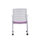 Four Legs Supporting with Wheels Mesh Chair Wood Back Thickening Sponge Cushion Office Chair