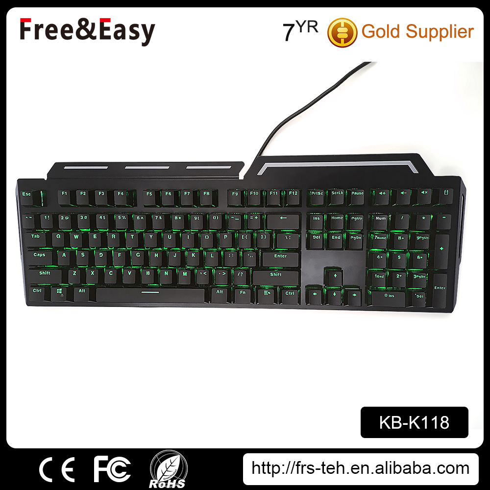 Factory Wired RGB LED Professional Real Mechanical Keyboard