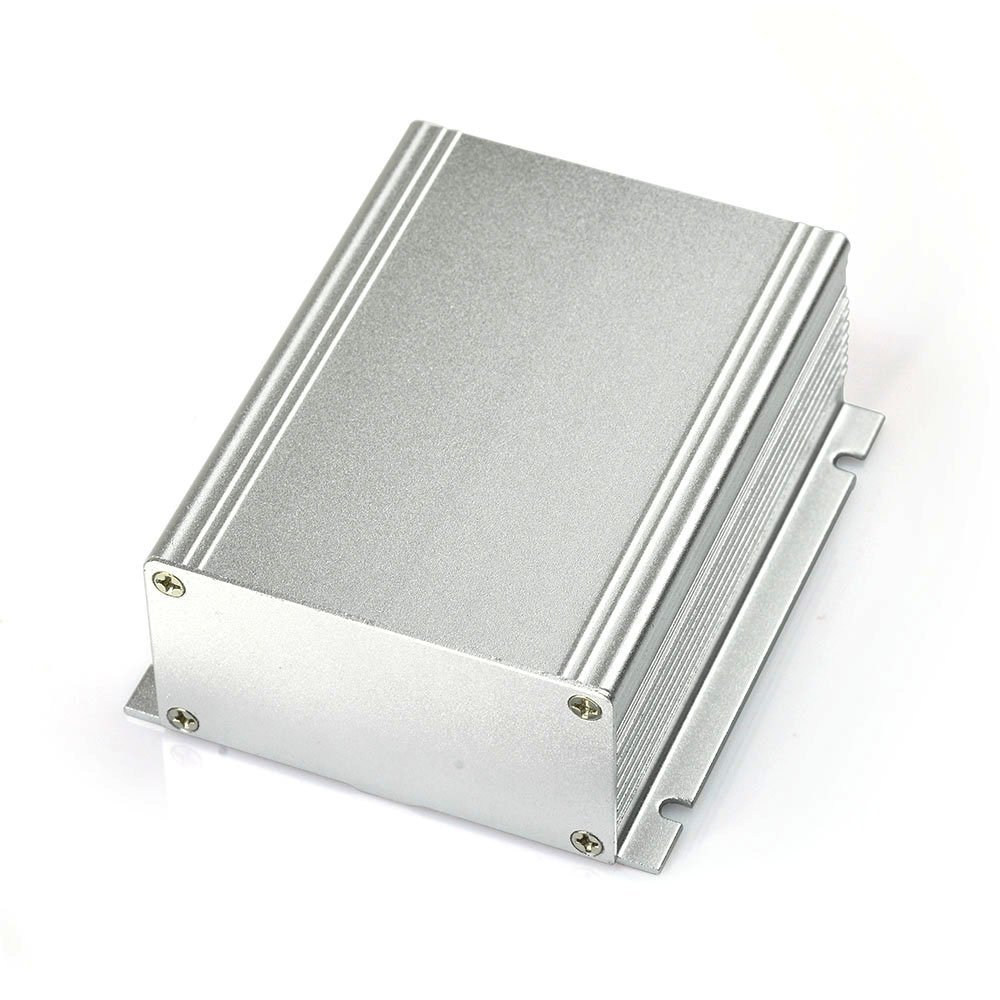 """Eightwood Extruded Aluminum Project Enclosure Electronic Power PCB Instrument Box Case DIY - 3.94""""x3.46""""x1.54""""(LxWxH) Flanged Box"""