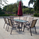 2016 wholesale garden Patio modern aluminum frame dining table and sling chair set