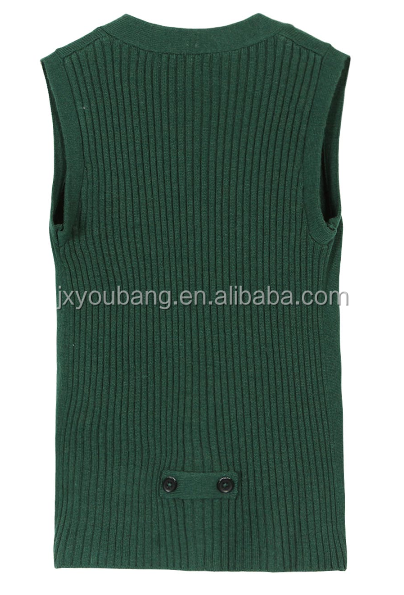 Kids100%Cotton V-neck Knitted sleeveless knitted sweater vest cardigan