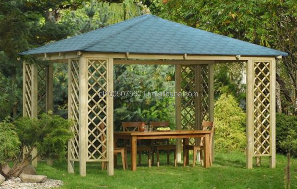 Wooden Tiled Canopy Rimini. Timber Pavilion Gazebo - Buy Wooden Canopy Product on Alibaba.com & Wooden Tiled Canopy Rimini. Timber Pavilion Gazebo - Buy Wooden ...