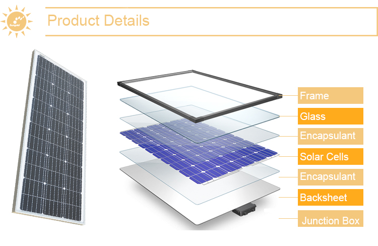 300w mono solar panel made of Germany solar cells