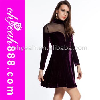 Sexy Lady Long Sleeve Hot Velvet Designer Dresses Buy Velvet