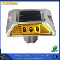 Road Security Markers Embedded 20T Rsistance Reflective Aluminum Solar Road Studs solar road stud flashing light