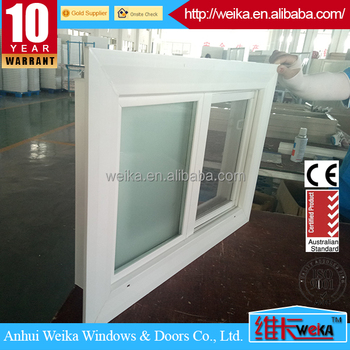 Europe latest type Frosted glass bathroom sliding window and door