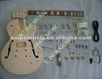 sngk014 hollow wood diy electric guitar kits cheap electric guitar kit buy diy electric guitar. Black Bedroom Furniture Sets. Home Design Ideas