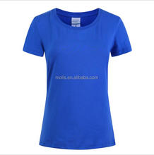 high quality custom printing 200gsm spandex cotton women T shirt with leak neck