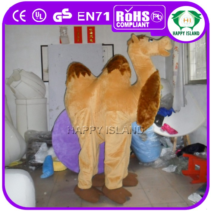 HI CE Hot selling camel mascot costume, 2 person camel costume for adult